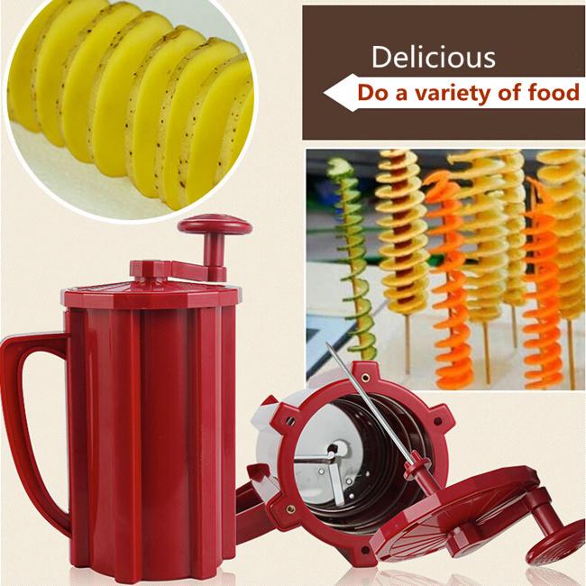 Здесь можно купить  Tornado Manual potato cut machine/Creative Home & Kitchen tool potato tower potato slicer  Дом и Сад