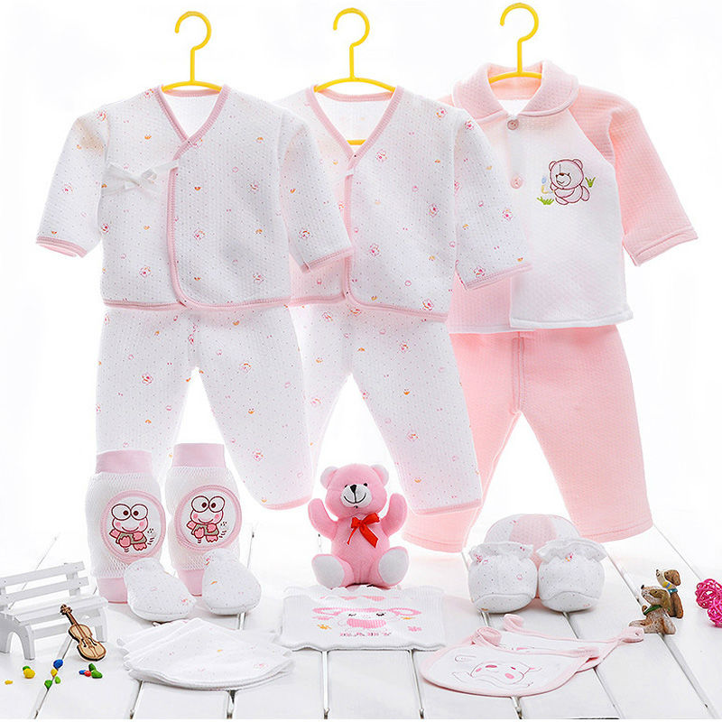 Top Rate 100% Pure Cotton Material Newborn Baby Products Casual Style Cheap Baby Clothes Cute Warm Kit For Girls Free Shipping(China (Mainland))