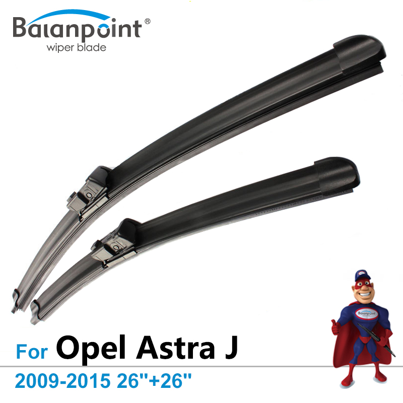 """Wiper Blades Opel Astra J Estate & Hatchback 2009-2015 26""""+26"""", Set 2, Top Rated Windshield Wipers"""