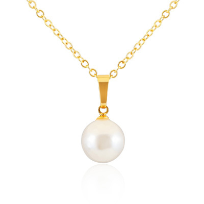 New popular fashion pearl pendant/necklace with 18 k gold plating trichromatic pearl pendant/necklace love beautiful gift dz119(China (Mainland))