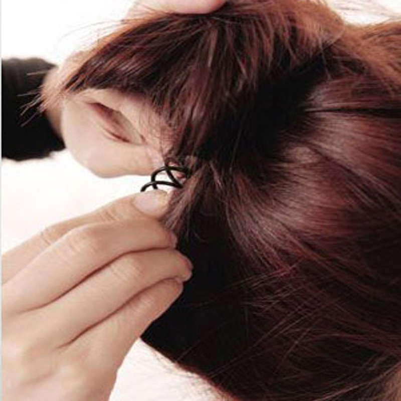 10pcs Invisible Hair Wholesale Spiral Spin Screw Hair Clip Twist Barrette Black New Hairpins Hair Band Accessories(China (Mainland))