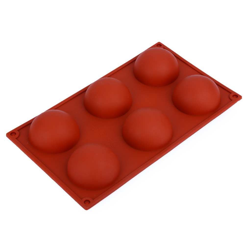 6 Even Large Domed DIY Silicone Cake Soap Jelly Pudding Chocolate Mold Decoranting Mould Kitchen Accessories For Cupcakes(China (Mainland))