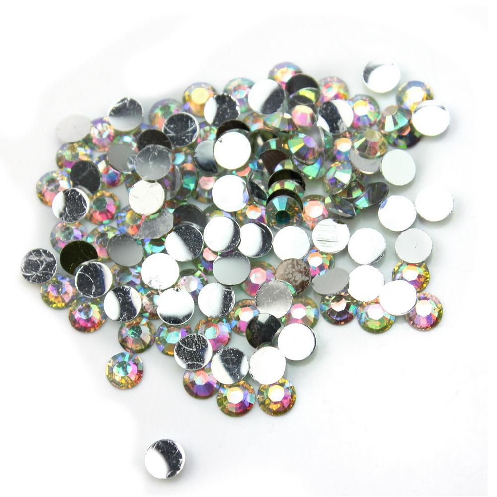 1000Pcs Sparking acets Rhinestone 4mm Round Gem Flatback Crystal New(China (Mainland))