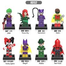 Buy 15Sets Super Heroes Batman Joker Riddler Poison Ivy Catwoman Red Hood Robin Harley Quinn Batgirl Building Blocks Kids Toys X0152 for $86.40 in AliExpress store