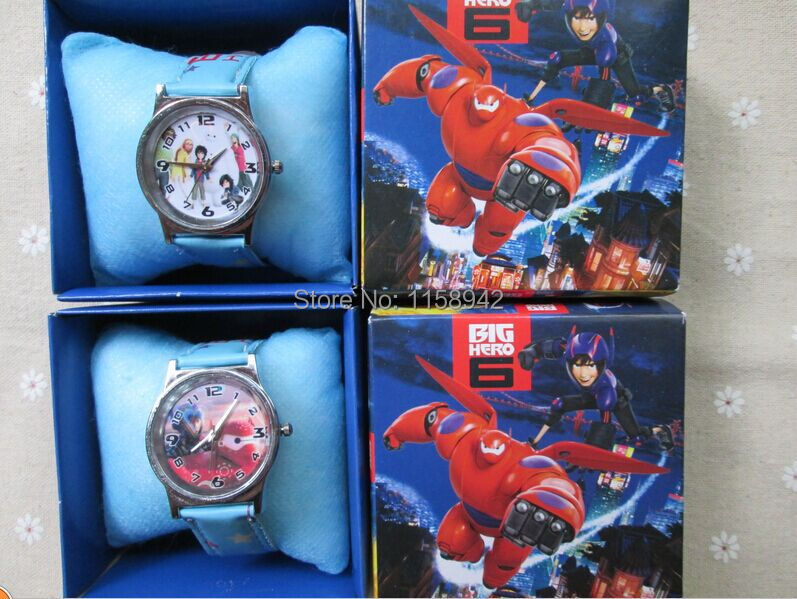 2014 Lovely Lots 10pcs Cartoon Big Hero 6  watch Wristwatches WITH BOX &amp;GIFT box free shipping<br><br>Aliexpress