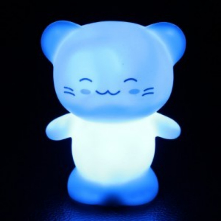 2016 Time-limited Rushed Abs Aa M068 Nightlight Gifts Happy Color Colorful Light Lamp Night Market Stall Cartoon Gift(China (Mainland))