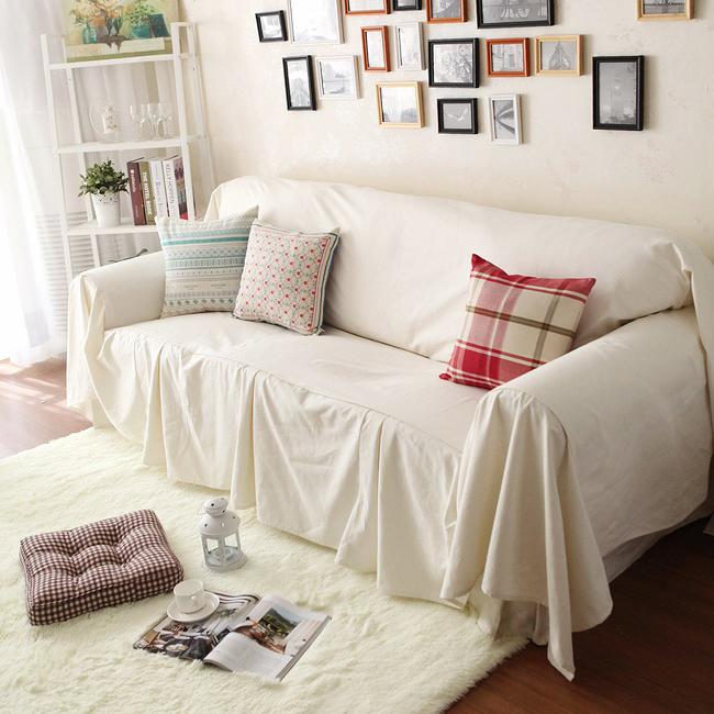 f White Sofa Cover Set Rustic Beige Sofa Slipcover