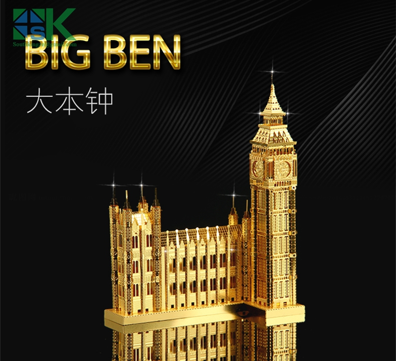 Supper Challenge Puzzle 3D metal model Metal Earth ICONX NANYUAN BIG BEN Brass etching puzzle United Kingdom Construction C Free(China (Mainland))