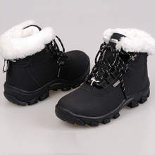 Sport women plush snow ankle boots fashion New Arrivasl 2016 solid color winter boots women shoes(China (Mainland))