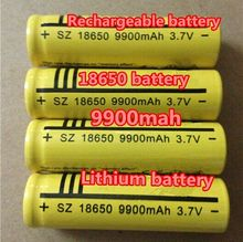 6X Pcs 3.7V 18650 battery 6000mAh Li-ion Rechargeable Battery for Flashlight Hot New 3.7v  batteries wholesale free shipping