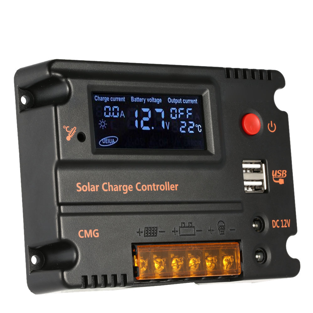 20A Solar Charge Controller Solar Panel Battery Regulator Auto Switch Solar Controller Temperature Compensation 12V/24V(China (Mainland))