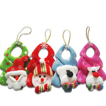 New Year 1pcs Mini Santa Claus Snowman Drop Pendants Gifts Christmas Decorations Indoor Tree Hanging Ornaments for Home SD291(China (Mainland))