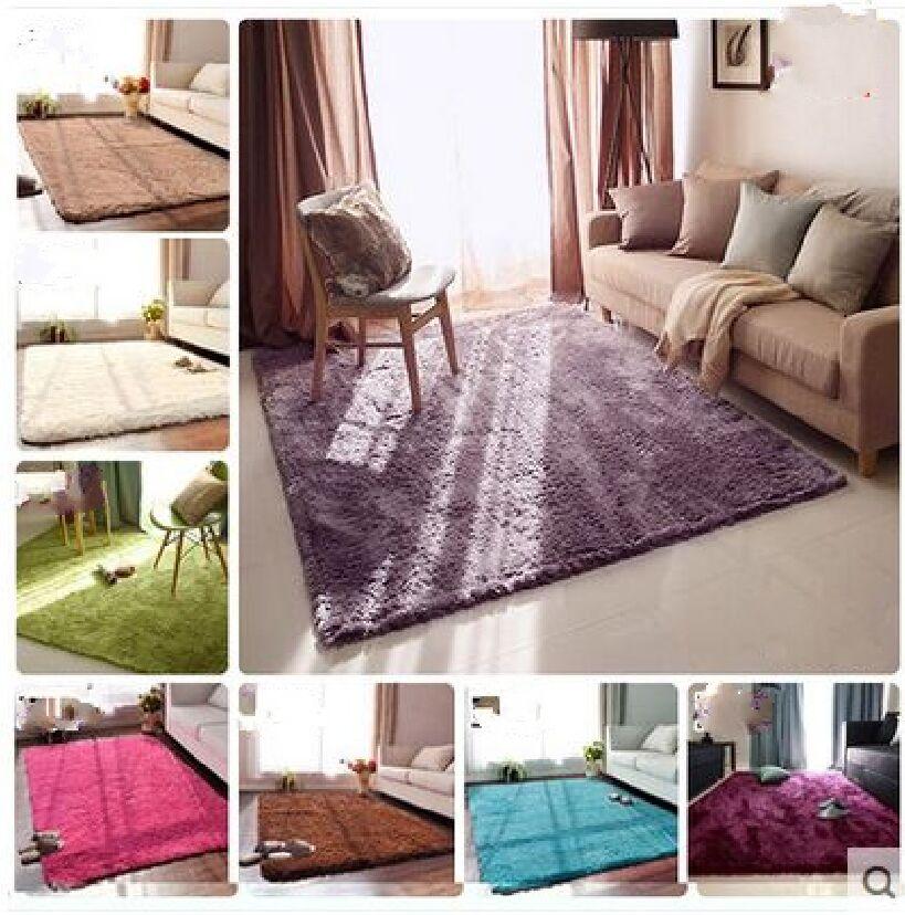 Kingart Big Yoga Carpet Children Floor Mat Kid Room Thick Fur Tapete Solid Co