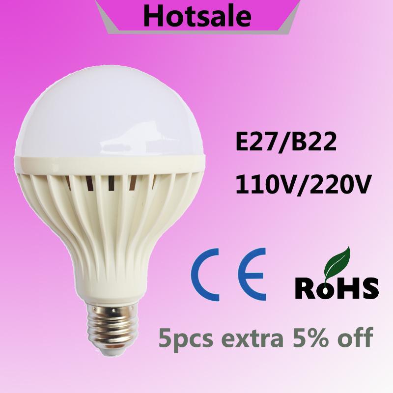 Гаджет  10pcs/lot led lamp E27 3W 5W 7W 9W 12W 15W 18W 20W led bulb B22 110V 220V 230V 240V Cold white SMD 5730 warm white led lights None Свет и освещение