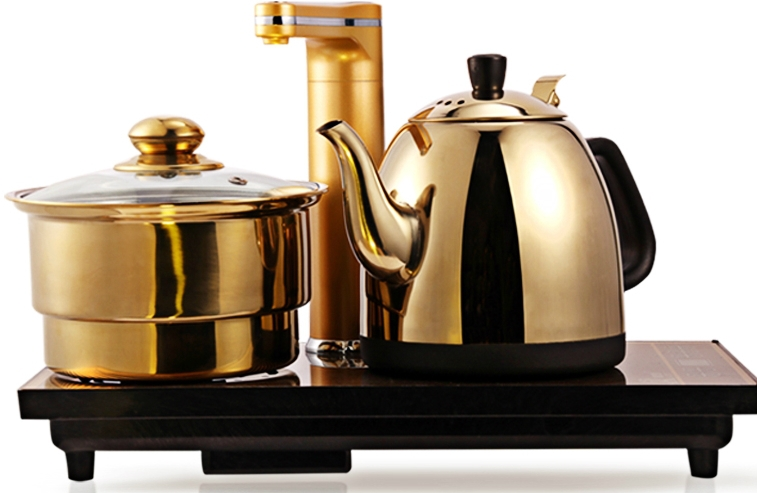 Triple electromagnetic stove automatic water pumping disinfection fast heating electric stove kettle Tea Set(China (Mainland))