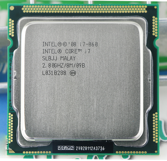 Used INTEL i7 860 SLBJJ (Quad Core CPU 2.80GHz 8MB Sockel 1156 95W) Processor warranty 1 year(China (Mainland))