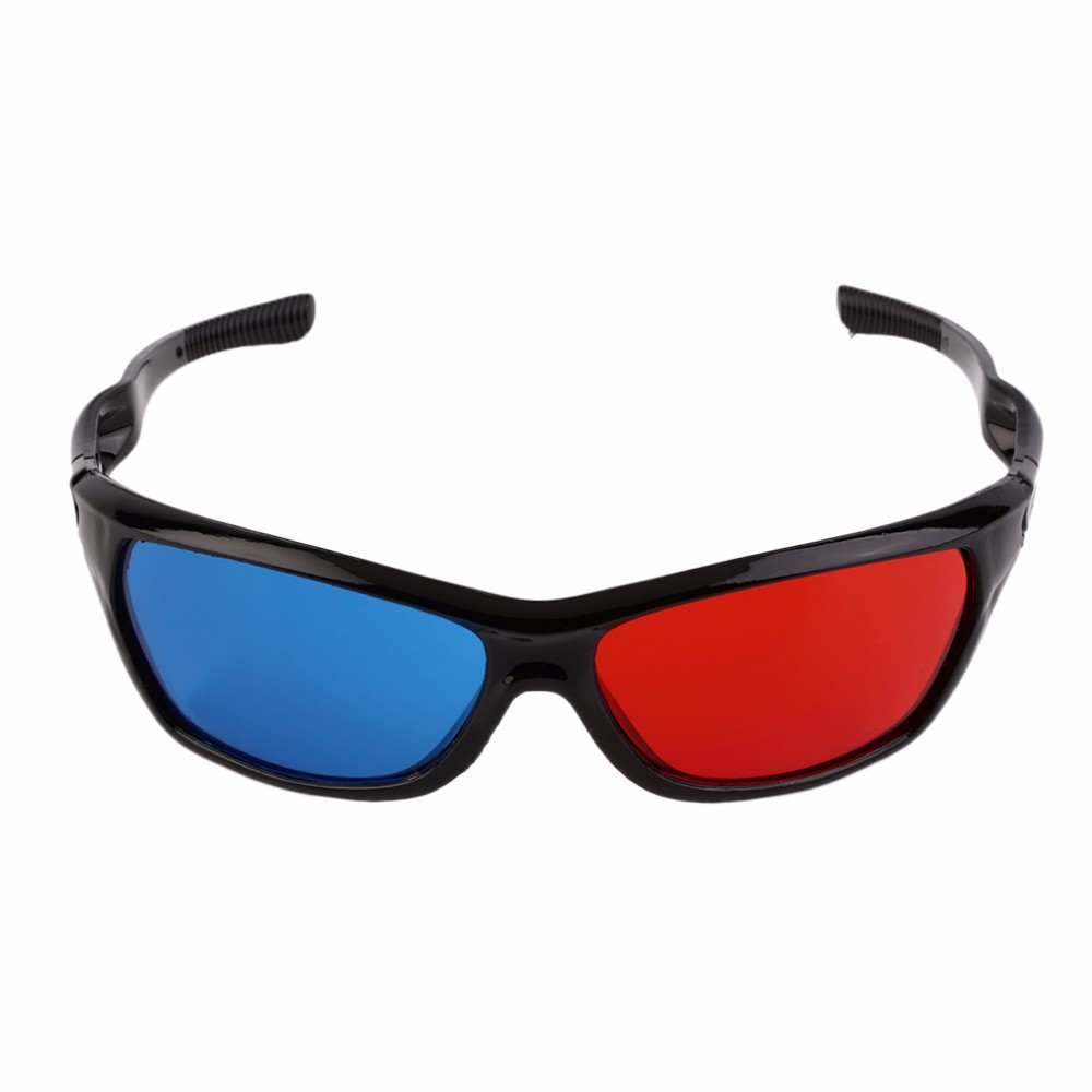 Newest Universal 3D Plastic Glasses Black Frame Red Blue 3D Visoin Glass For Dimensional Anaglyph Movie Game DVD Video TV(China (Mainland))