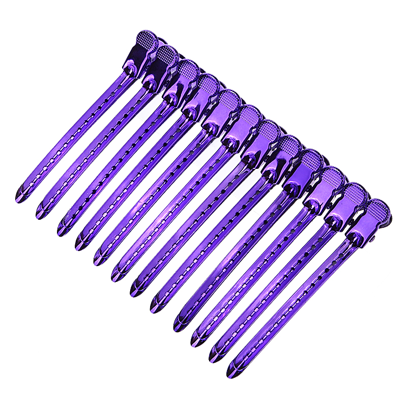 12 Pcs Metal Barber Sectioning Duck Hair Grip Hairdressing Clip Salon Clamps Styling Tools Hairdress Pro Section Hair Clips