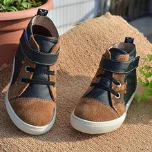 Children's Shoes Leather Cowhide Boy Girl Cotton Shoes Leisure Sports Keep Warm Boots Martin Winter Snow Baby Kids Boys Girs(China (Mainland))