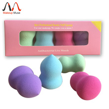 4Pcs 2014 New Soft Polyurethane Bundle Monster Pro Beauty Flawless Makeup Blender Foundation Puff Sponges(China (Mainland))