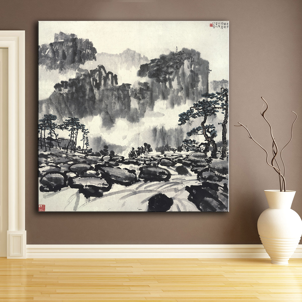 Paintings In Living Room Chinese Wall Painting Promotion Shop For Promotional Chinese Wall