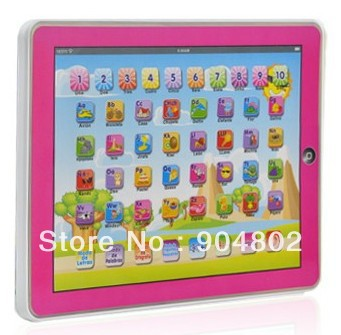 Hot sale Spanish language Y-pad children learning machine, Spanish computer for kids, best gift 1pc Free shipping,(China (Mainland))