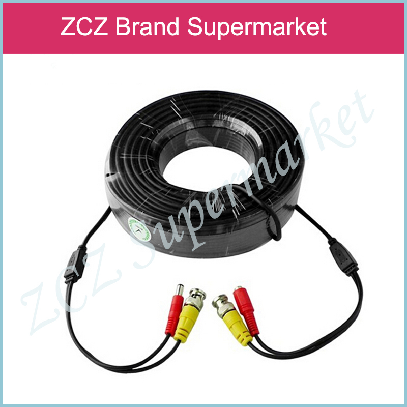 ZCZ 65ft(20m) BNC Video Power Siamese Cable for Surveillance CCTV Camera Accessories DVR Kit ZX031(China (Mainland))