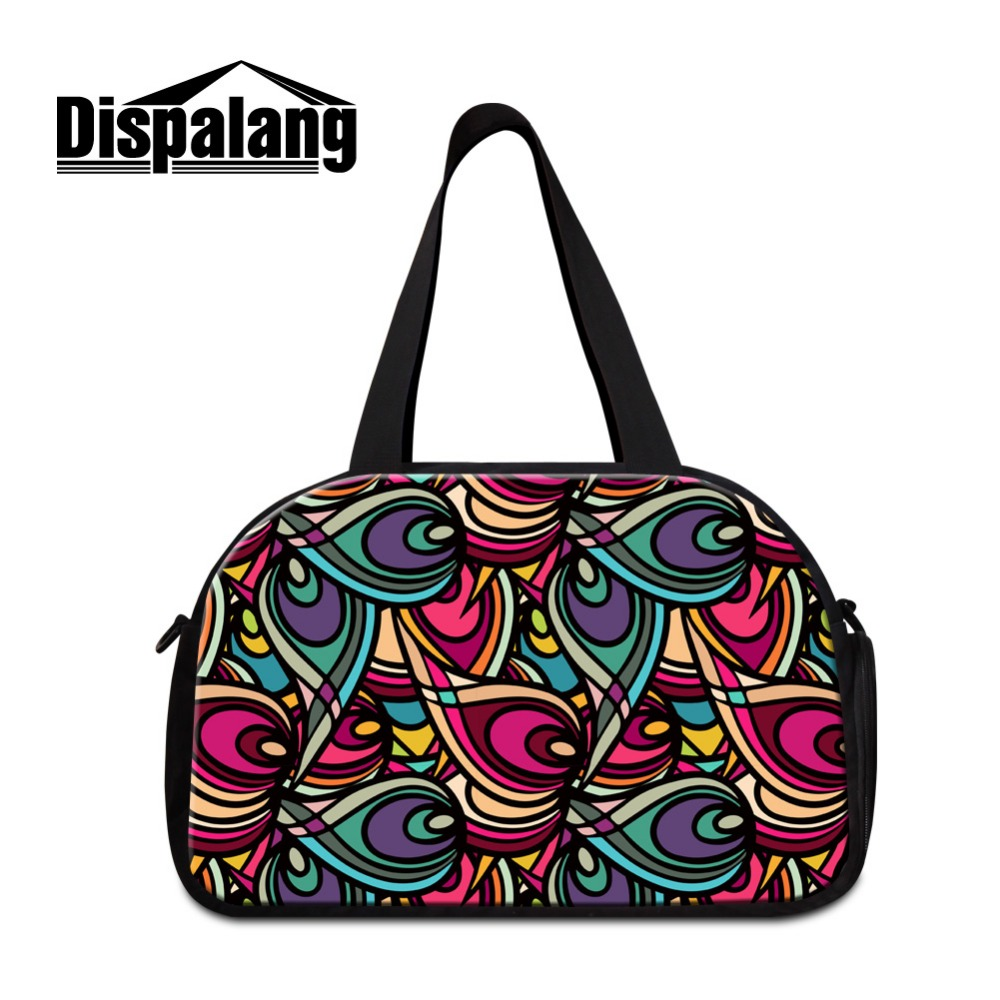 Dispalang Best Cotton Luggage Duffel Bags Patterns Floral travel handbags online Stylish Custom Shoulder travel accessories girl(China (Mainland))