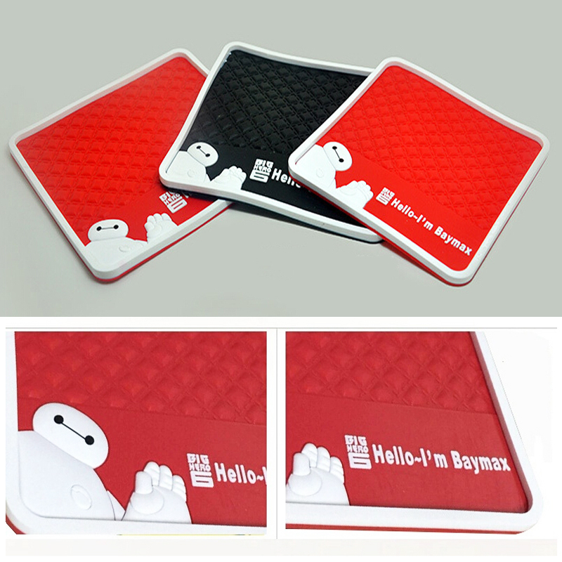 New design Car Styling baymax non-slip Mat Accessories Mat Anti-slip Sticky Mats 4 color to chose car products Anti-slip(China (Mainland))