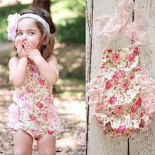 Baby Rompers girls floral Suit Newborn Rompers For Kids New Baby girls summer lace Clothing Roupas Bebes Mameluco Infantil(China (Mainland))