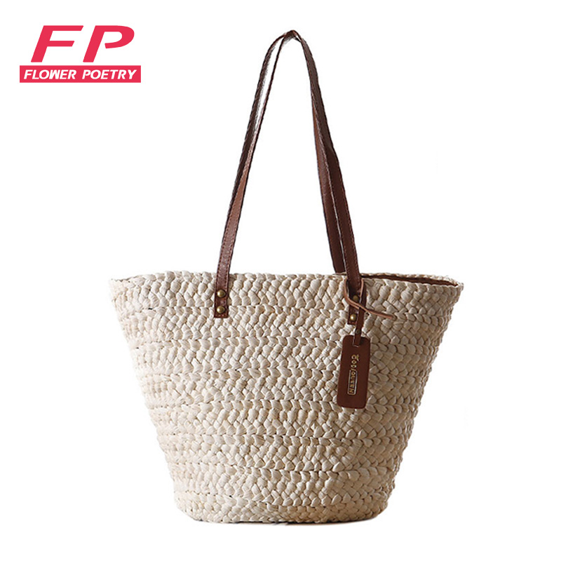 Fashion beach bag ladies casual shoulder bag summer style straw shopping bags Large capacity women Straw bag famous brand(China (Mainland))