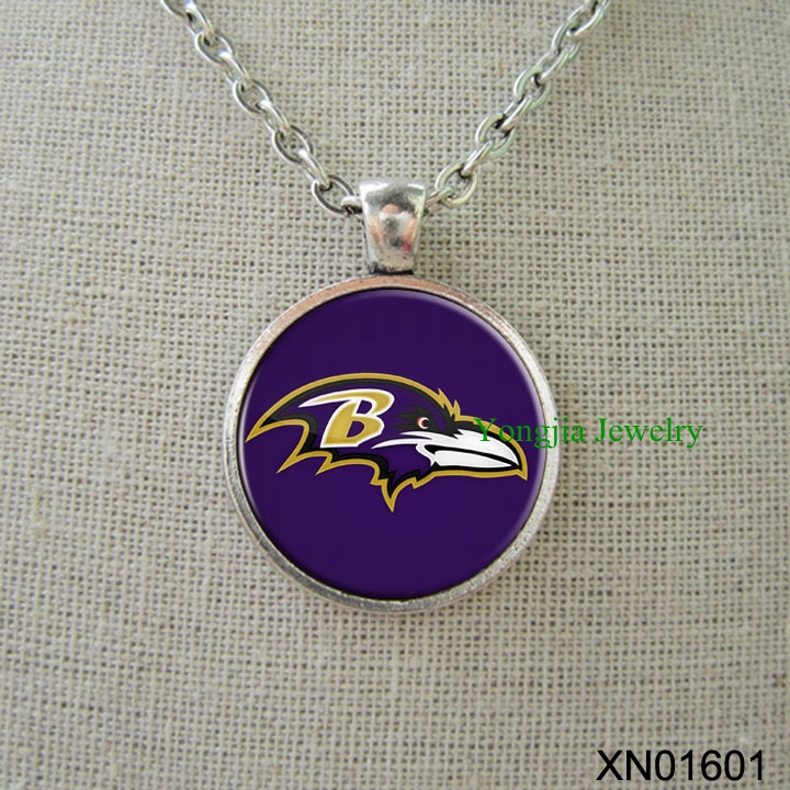 Baltimore Ravens football personalized necklace football fans team gift cheap jewelry(China (Mainland))