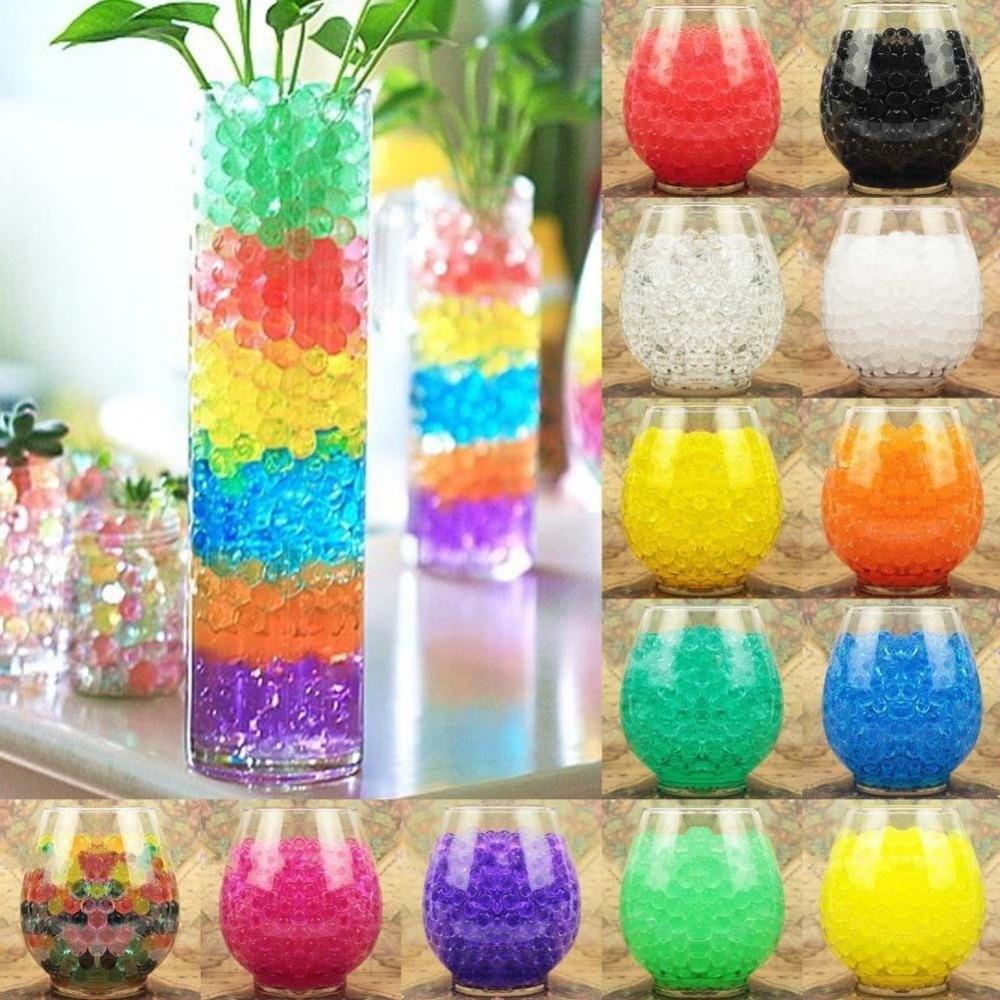 10 Pcs Magic Water Plant Flower Gel Crystal Soil Mud Grow Pearls Beads Balls Wedding New 11 Colors(China (Mainland))