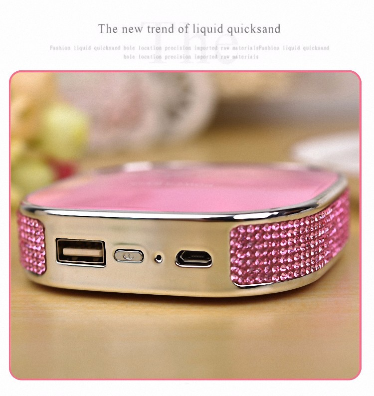 Luxury 12000mAh USB diamond Hello Kitty cartoon cat Power Bank portable External battery pack charger for Phone powerbank