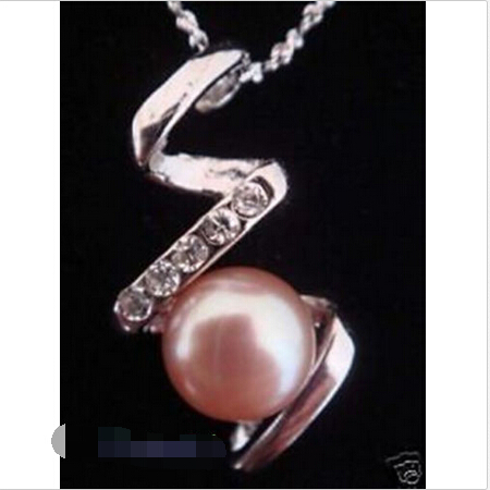 1 Set Love Wish Pearl Necklace Set Oyster Drop Pendant ^^^@^Noble style Natural Fine jewe (B0322)(China (Mainland))