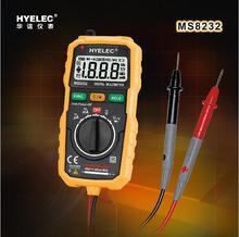 Hyelec MS8232 Mini Portable Auto rango multímetro Digital DMM con retención de datos proyector retroiluminación apagado automático Multimetro