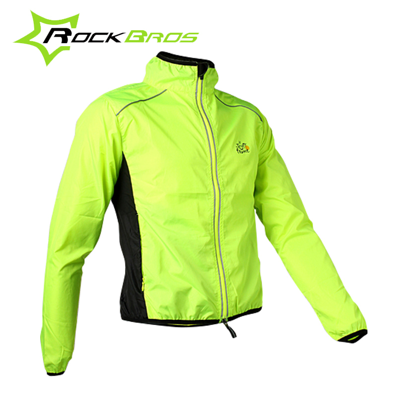 ROCKBROS Tour de France Cycling  Men's Riding Breathable Reflective Jersey Cycle Clothing Long Sleeve Wind Coat Jacket, 6Color(China (Mainland))