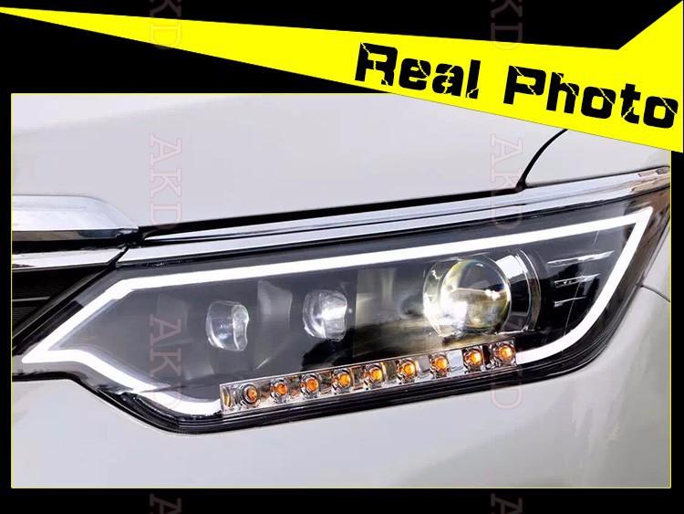 Car Styling LED Head Lamp for Toyota Camry Headlight New Camry V55 led headlight 2014-2015 led drl H7 hid Bi-Xenon Lens low beam