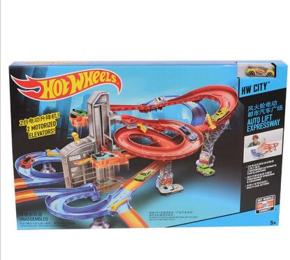 Manually Hot Wheels railway Cyclotron Stereo Track Hotwheels Collection Miniatures Car Model Classic Antique For Boys Kid Toy 3(China (Mainland))