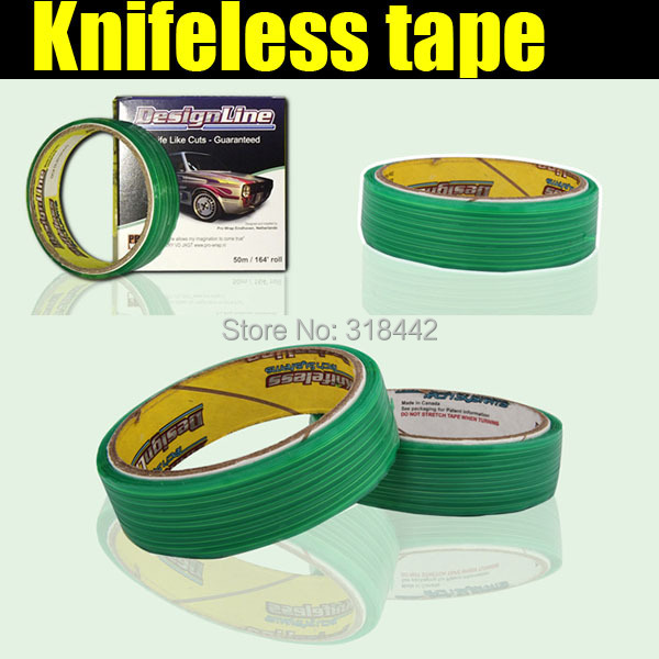 Car Self Adhesive Vinyl Wrap DIY Cutting Lines Knifeless Tape 3.5mmx50m per roll with free shipping(China (Mainland))
