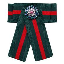 Stripe Kerah Pin Besar Bros Desainer Wanita Merek Gugatan Jumbai Kristal Lencana Bros Perhiasan Perempuan Bohemia Antik Lebah(China)