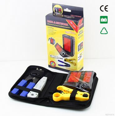 Free shipping, NOYAFA NF-1201 Network tool kit Wire stripper & network cable tester & RJ45 Crimping tool & punch Down Tool(China (Mainland))
