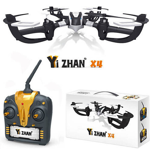 Original Yi Zhan X4 2.4G 4-CH 6-Axis Gyro System RC Quadcopter Drone Helicopter RTF Air Beatle(China (Mainland))