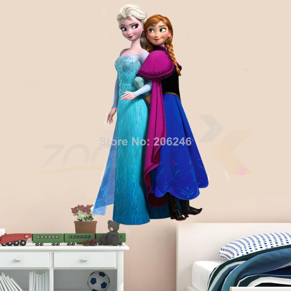 hot selling movie decals snow queen princess cartoon stickers kids room wall decals children sticker home decorations zooyoo1420(China (Mainland))