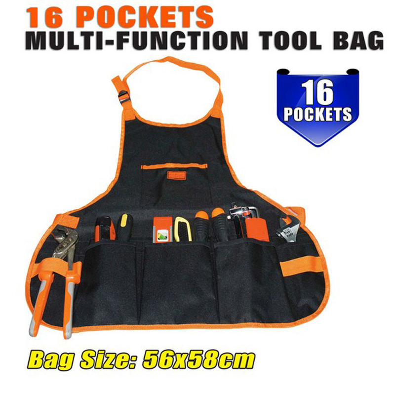 16 Pockets Multifunctional Polyester Tool Bag Electric Tools Apron Electrician Bag For Tools Free Shipping HW085<br><br>Aliexpress