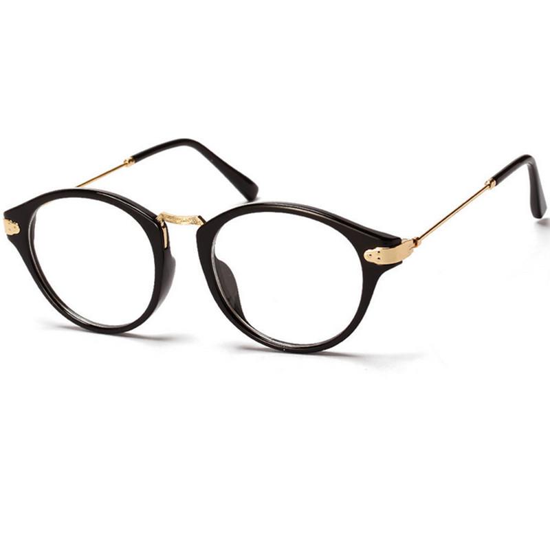846c2923e271 Retro Round Metal Eyeglasses