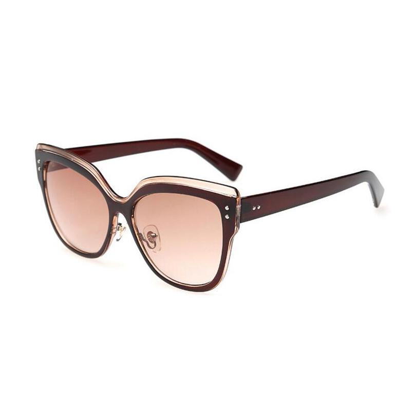 Plastic Framed Fashion Glasses : 2016 New Fashion Sunglasses Women Plastic Frame PC Lens ...