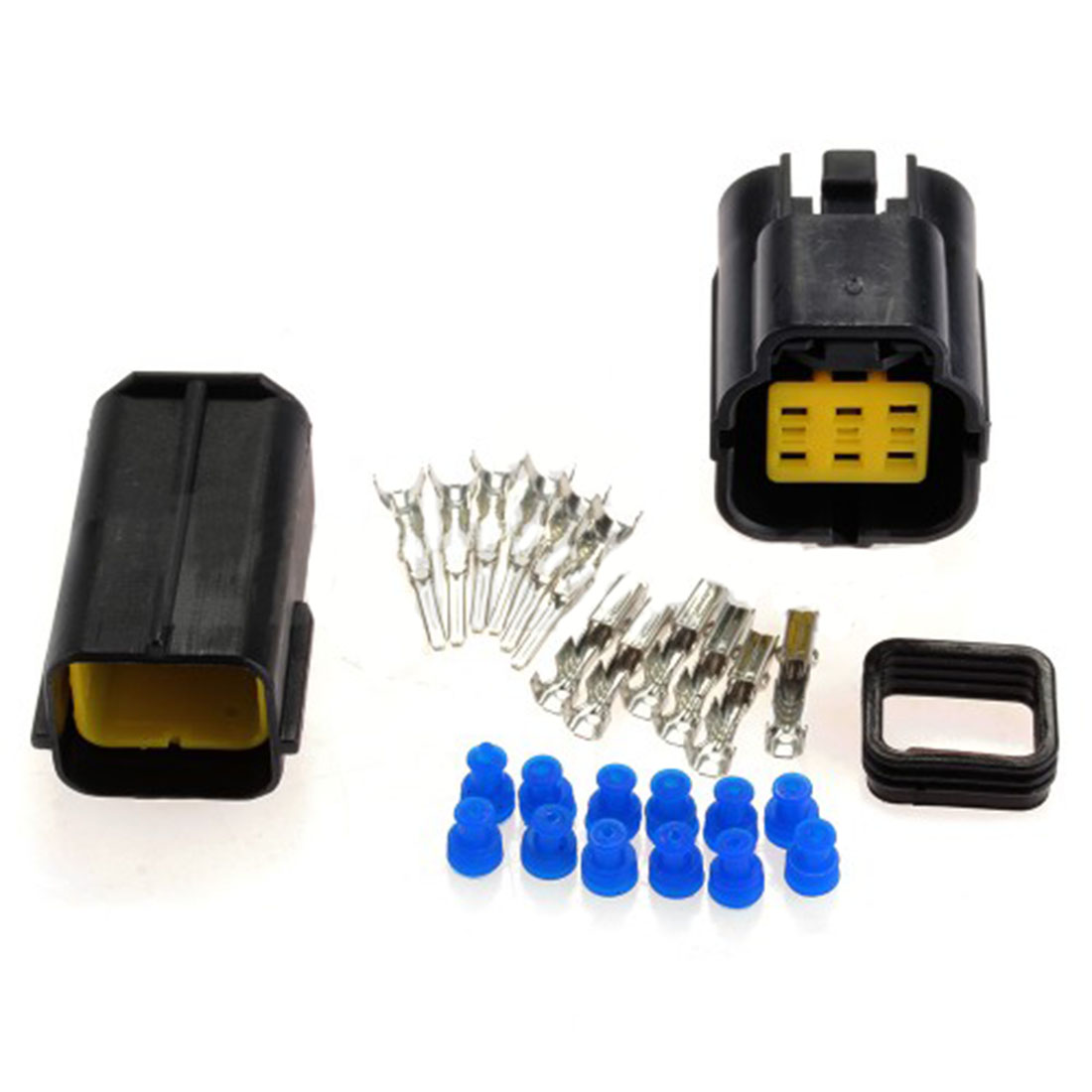 Top Quality 1 Kit 6 Pin Way Waterproof Wire Connector Plug Car Auto Wiring A Sealed Electrical Set For Truck Boat Ect
