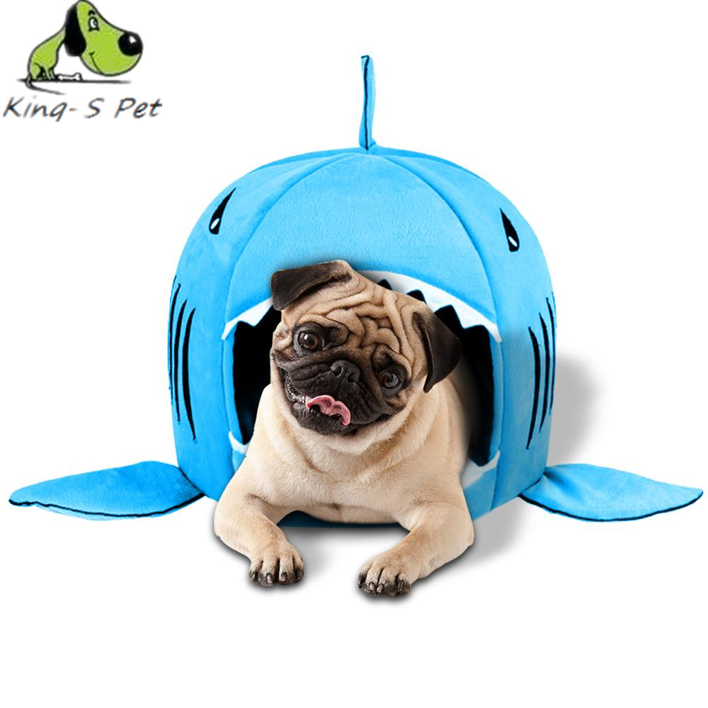 2017 Dog Beds Mats Pet Products Warm Soft Dog House Pet Sleeping Bag Shark Dog Kennel Cat Bed Cat House Cama Perro Kennels Pens(China (Mainland))