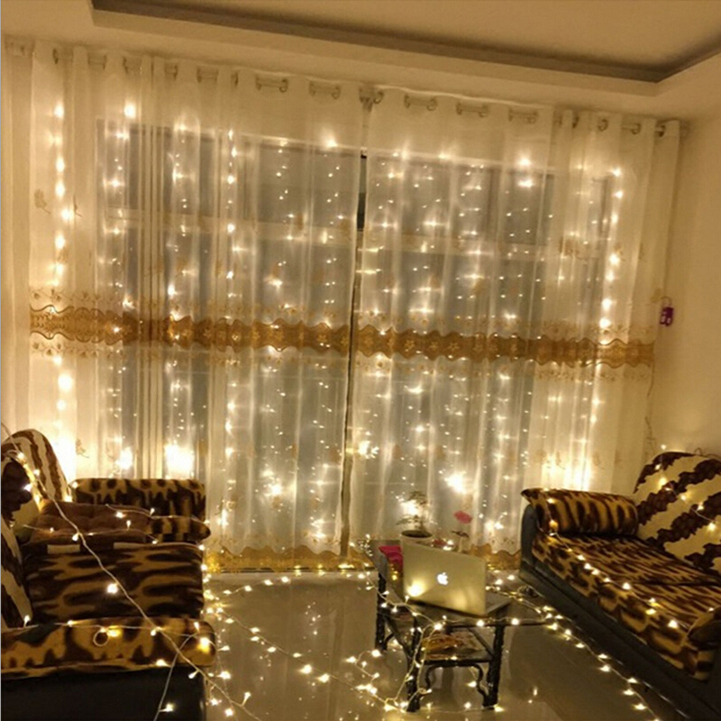 6M x 3M 600leds New Year Christmas Garlands LED String Christmas Decorations For Home Fairy Xmas Party Wedding Curtain Lights(China (Mainland))